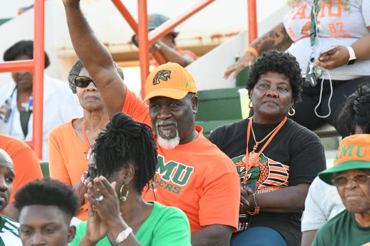 FAMU fans cheer pack Bragg Memorial Stadium in large numbers. The Rattlers rank third in the NCAA Division I Football Championship Subdivision (FCS) home attendance chart.