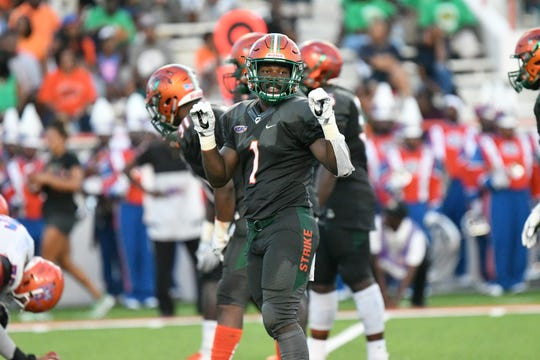 FAMU nickelback Terry Jefferson shines as a student-athlete. He earned a 4.0 for the 2018 fall semester. Jefferson also was named third-team All-MEAC for his performance on the field.