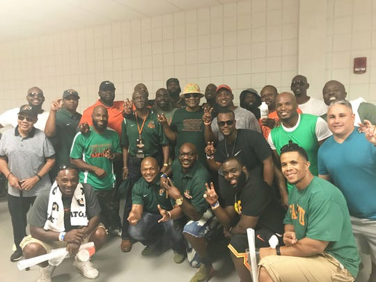 The 1998 Florida A&M Rattlers - winners of the black college national championship.