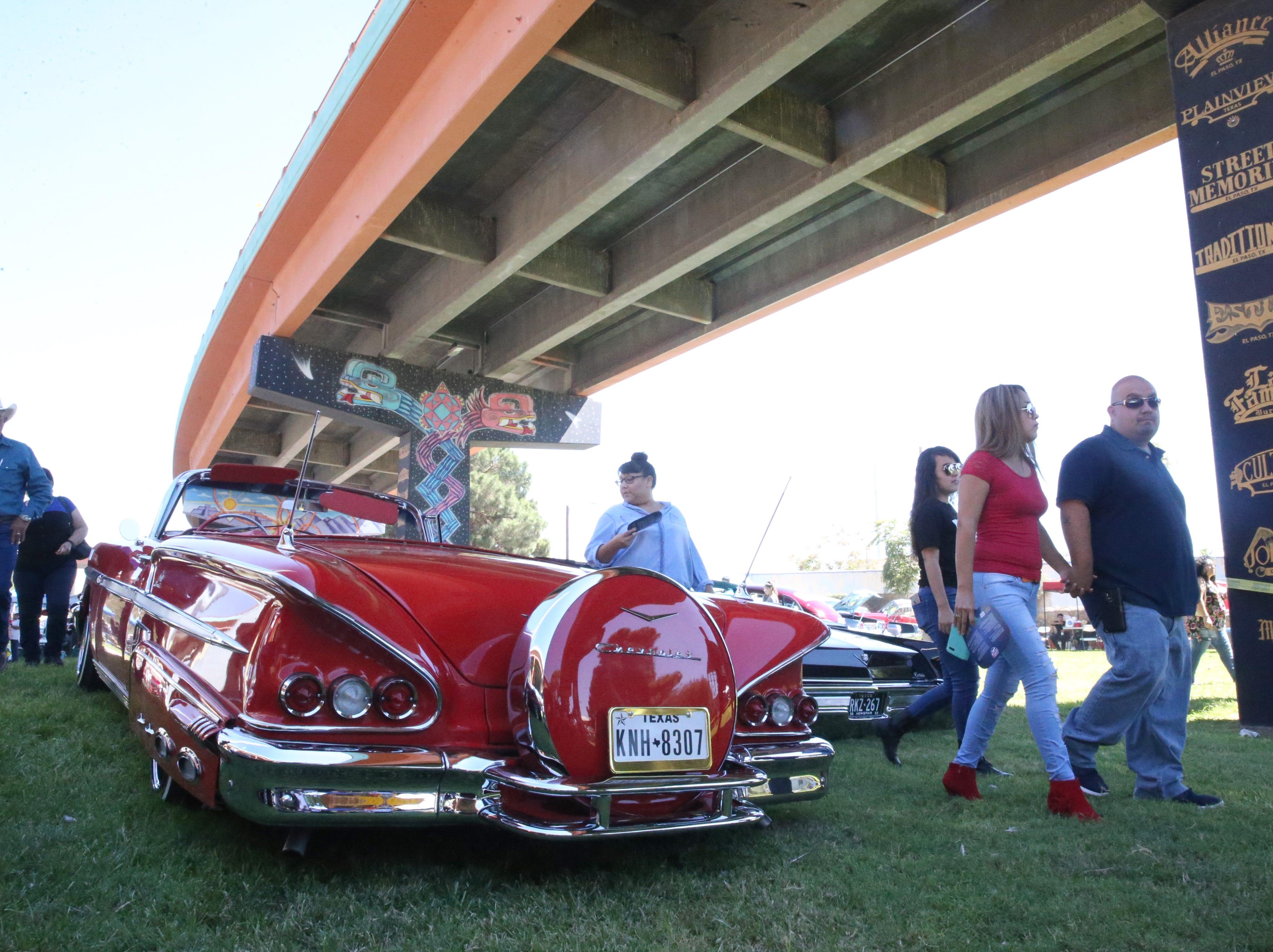 Back side of a 1958 Chevrolet Impala Sunday.