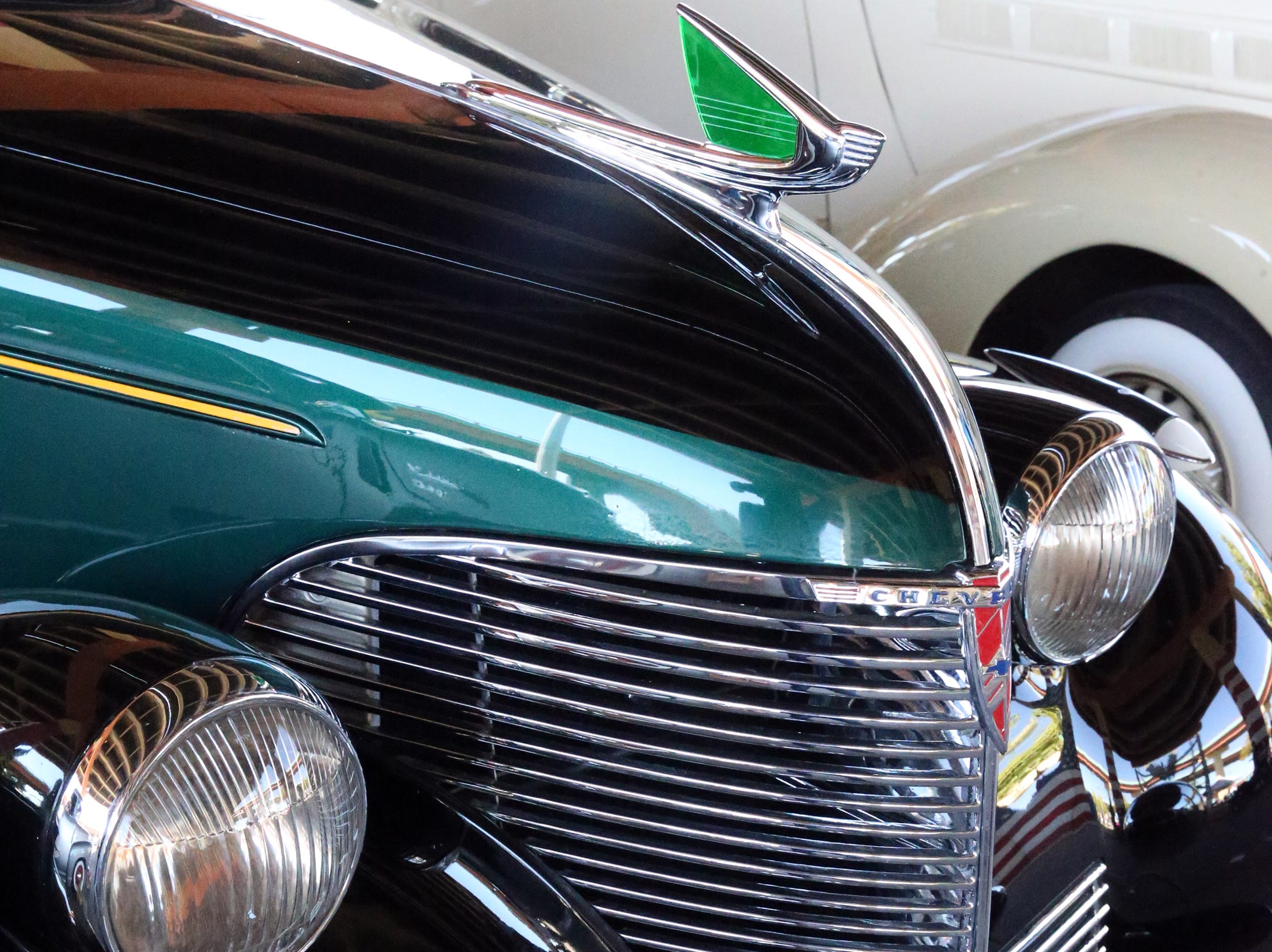 Shiny grille on this 1939 Chevy.
