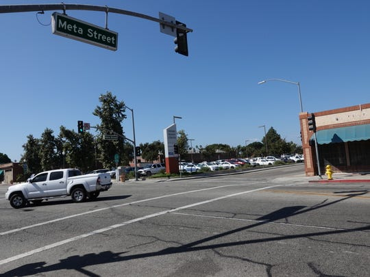 Meta and Fifth streets in downtown Oxnard, where a man was killed by an SUV Sept. 23 after an apparent dispute, police say.