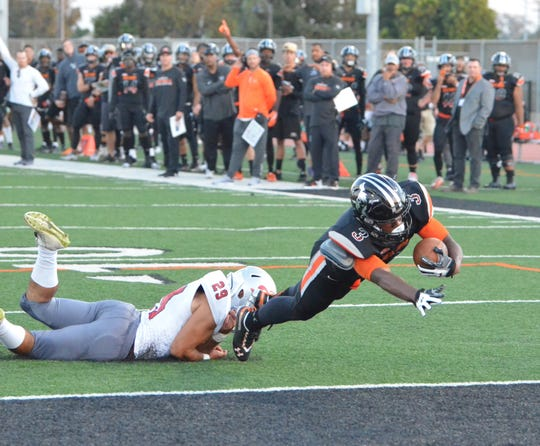 Ventura College's Thomas Duckett is third in Southern California with 94.3 rushing yards per game.
