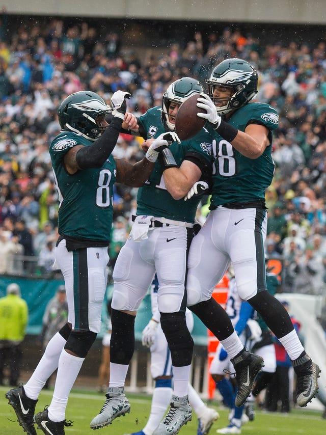 b63e7e63 Eagles vs. Colts: Wentz returns strong in close fight