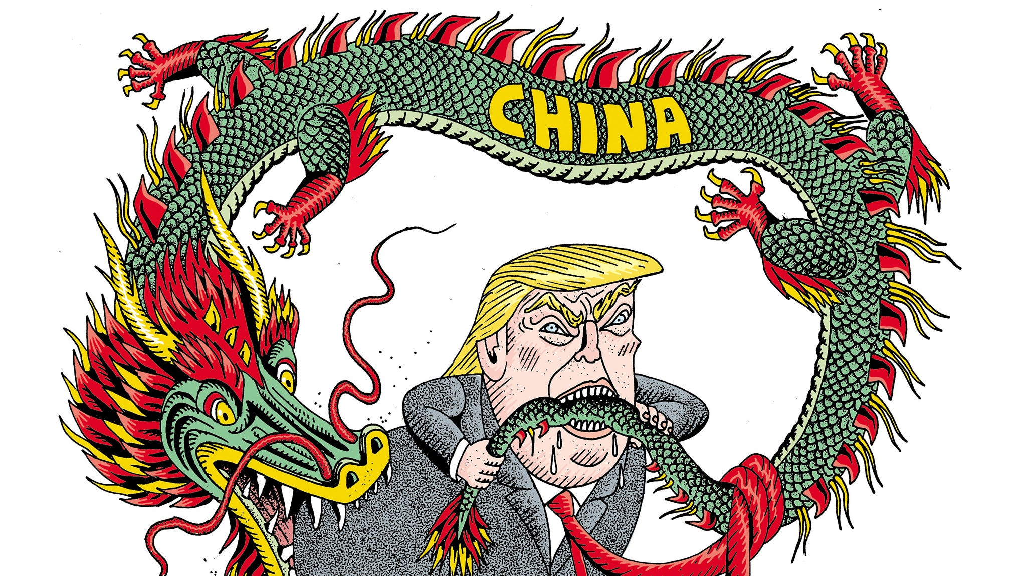 Cartoon on China tariffs