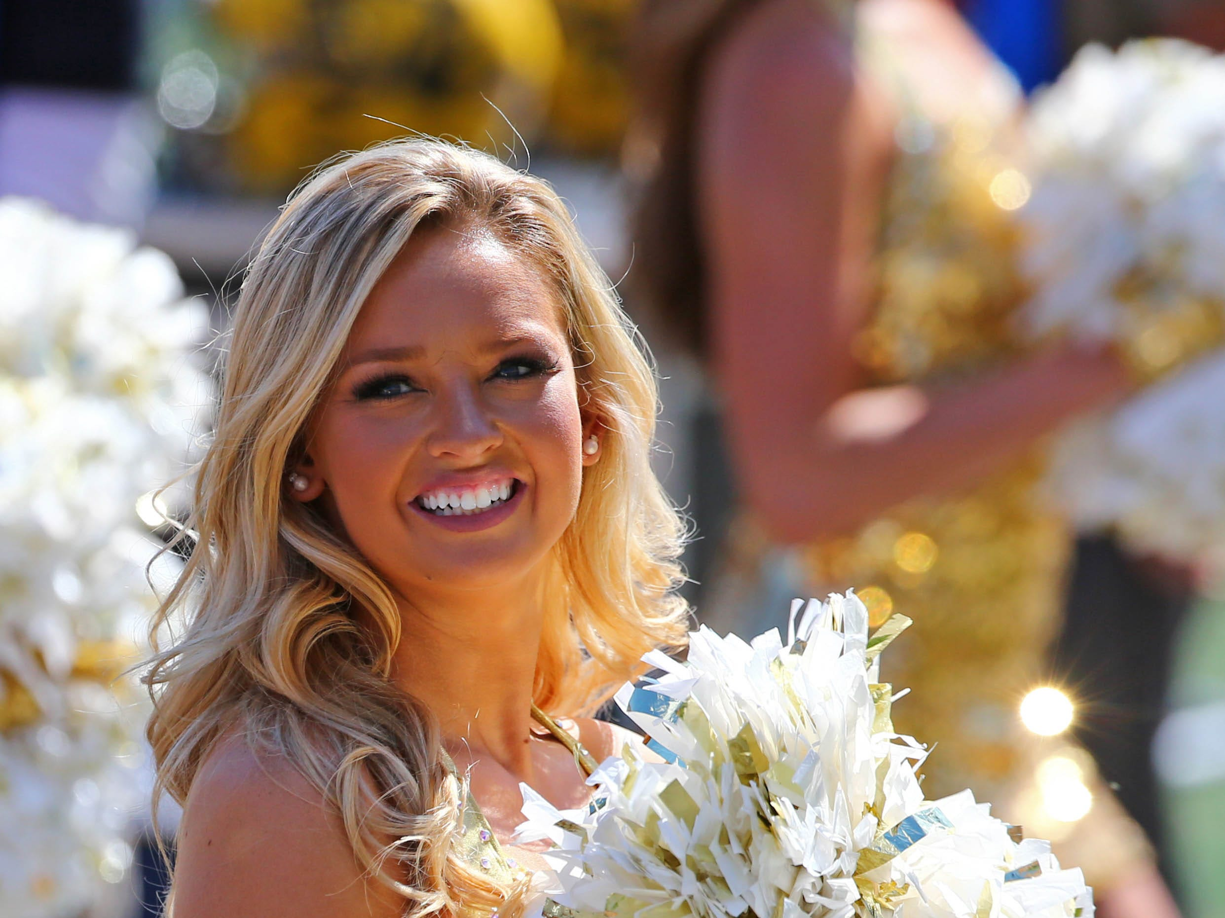 Week 4: A Missouri Tigers cheerleader performs in the second half against the Georgia Bulldogs at Memorial Stadium/Faurot Field.