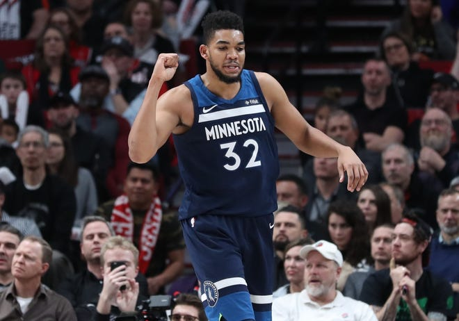 Karl-Anthony Towns has averaged  21.6 points and 11.7 rebounds a game in his three seasons with the Timberwolves.