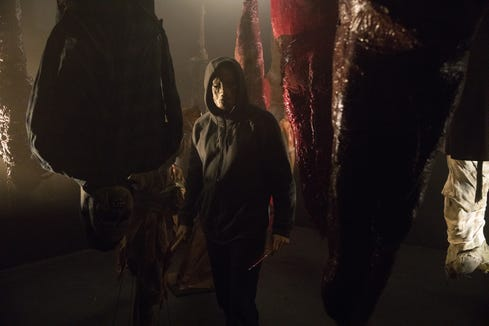 """The Other"" uses scary decor as a backdrop for his bloody rampage in ""Hell Fest."""