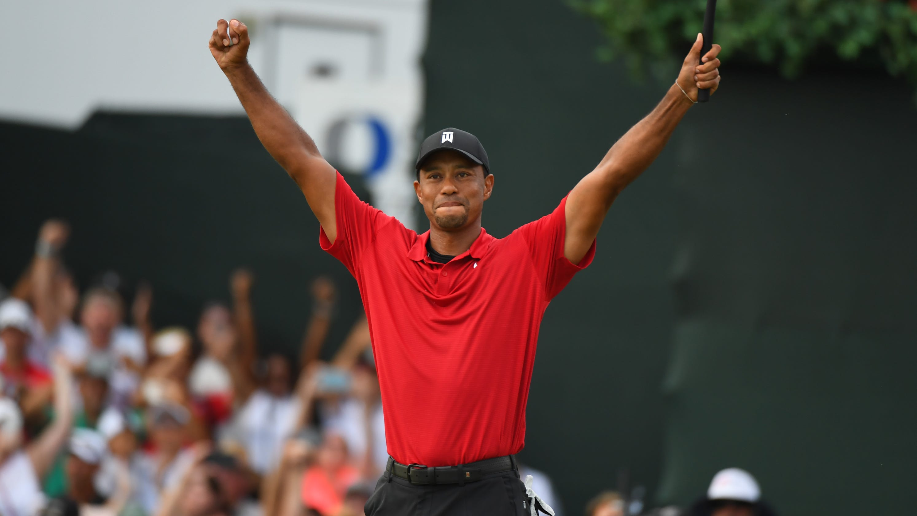Image result for images of tiger woods winning