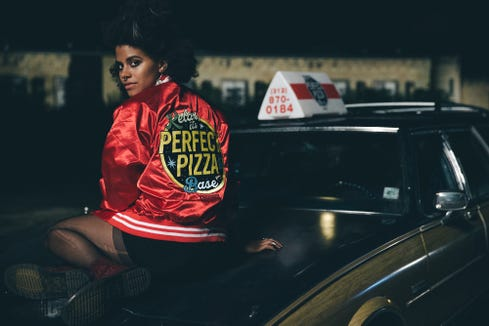 "Zazie Beetz delivers pizza and digs into supernatural shenanigans in ""Slice."""