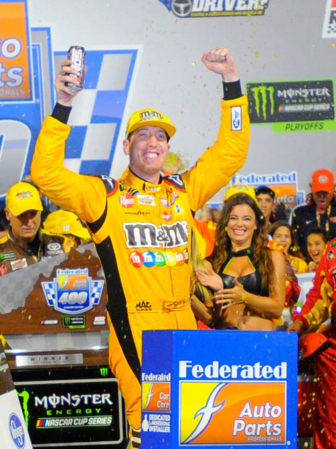 Kyle Busch took charge of the second of 10 NASCAR playoff races, winning for the sixth time at Richmond and the 50th time in his Cup Series career.
