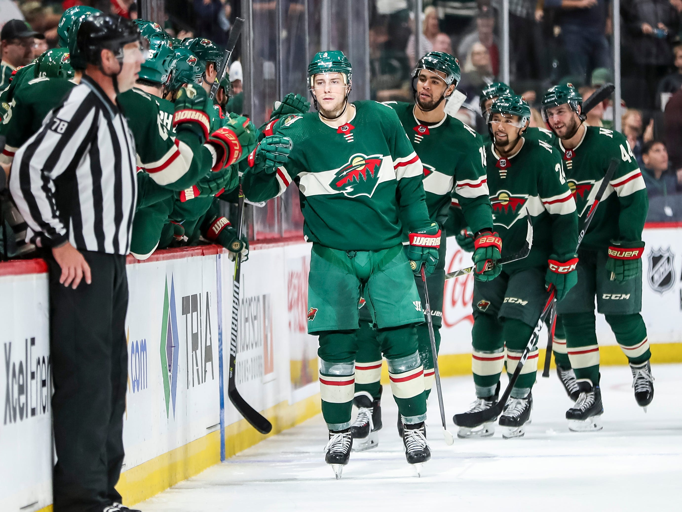 Sept. 22: Minnesota Wild forward Charlie Coyle had a hat trick in a 7-0 rout of the Colorado Avalanche.