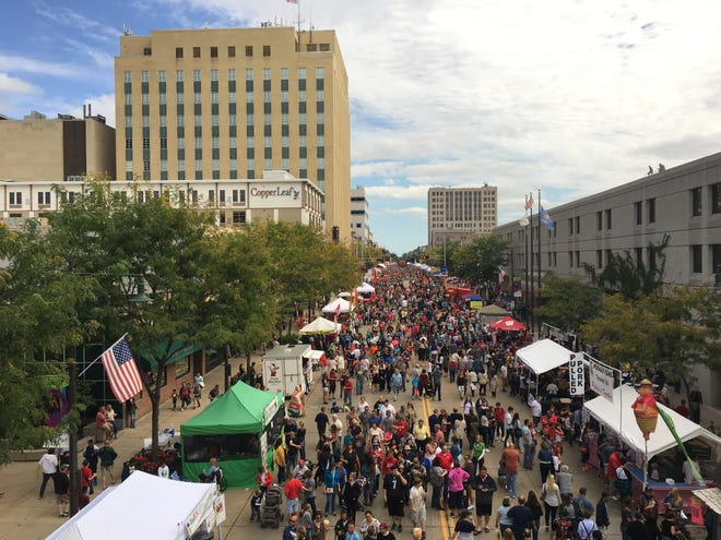 Octoberfest takes over downtown Appleton.