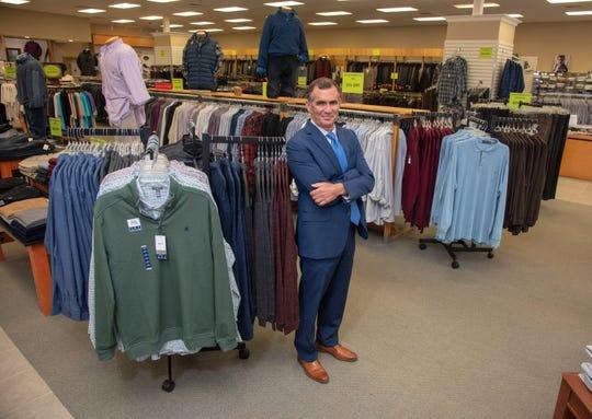 Owner Ken Marowitz in Frank's Big and Tall Men's Shop in Ocean Township.