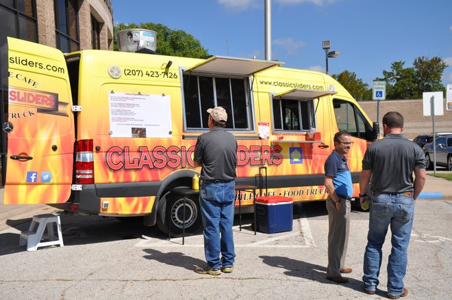 The Classic Sliders food truck set up at the Abilene/Taylor County Law Enforcement Center on Sept. 19 for a fundraiser benefiting the American Heart Association.