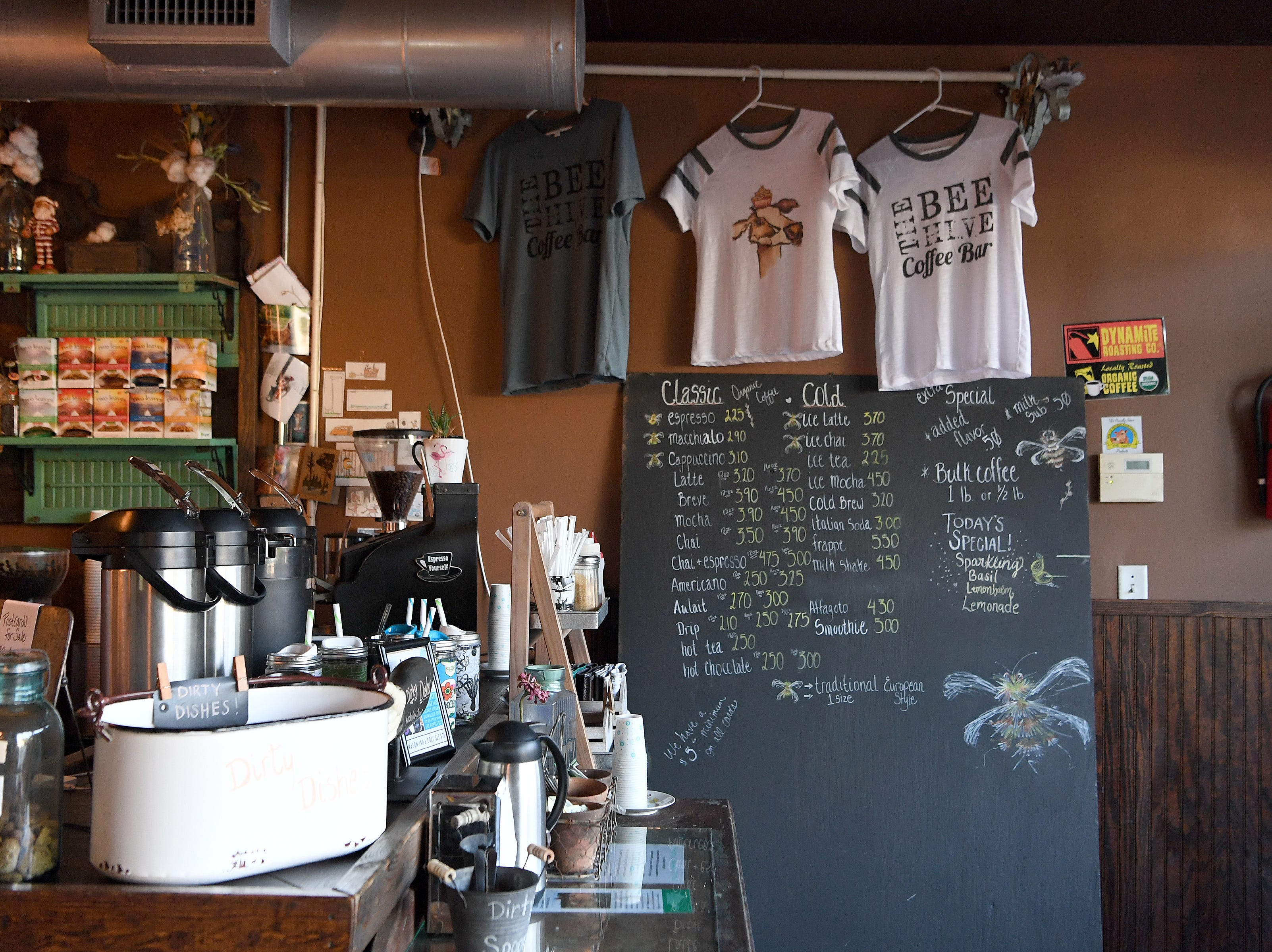 The eclectic decor of the Beehive Coffee Bar in Arden allows customers to forget its strip mall location and is at no loss for unique personal touches.