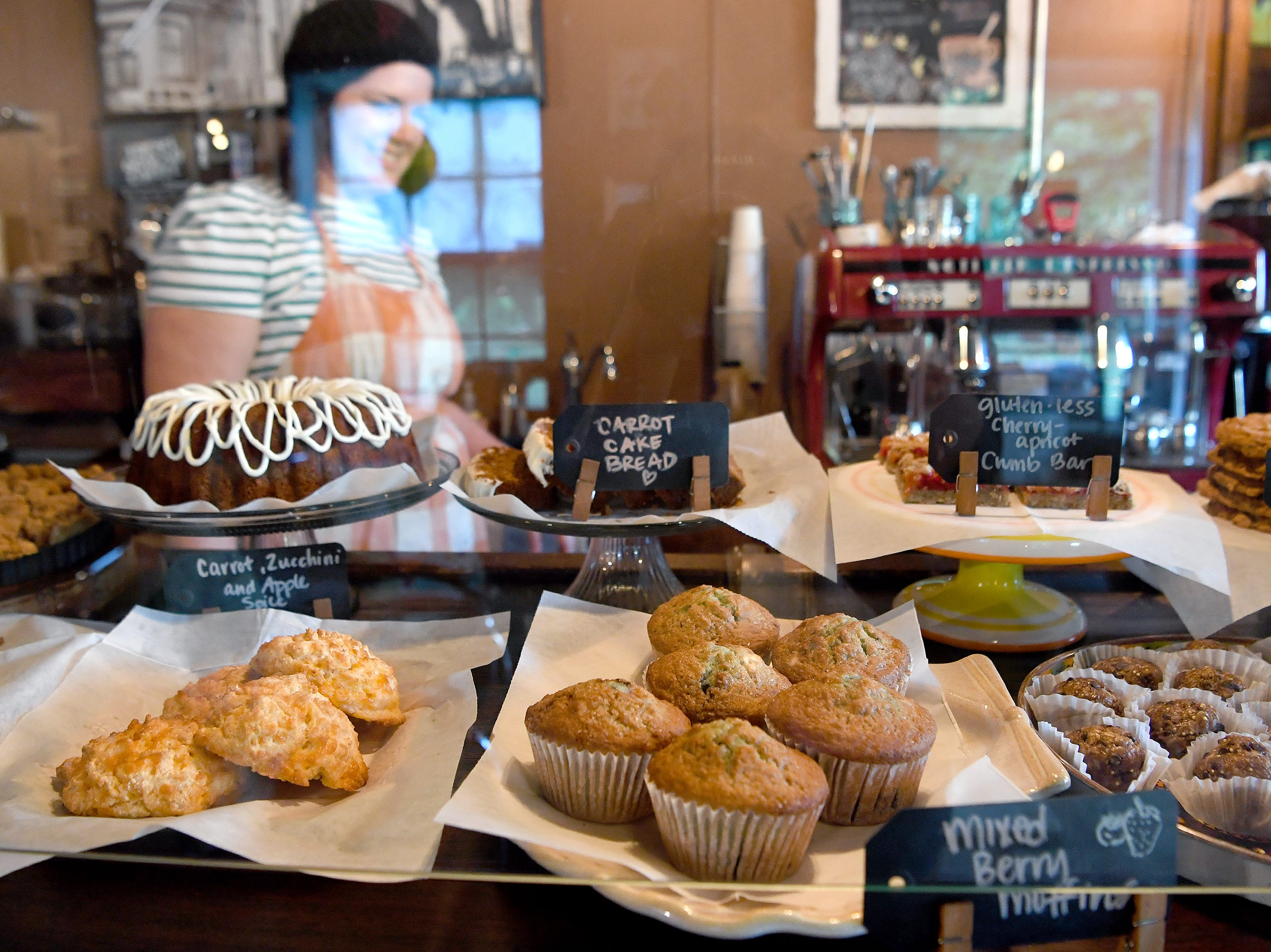 The Beehive Coffee Bar in Arden offers an array of house-made baked goods every day.