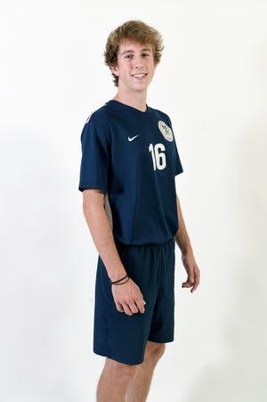 Colton Thrasher is a senior center back on the Roberson High School soccer team.
