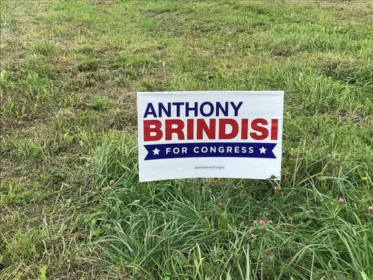 Campaign sign for Democrat Anthony Brindisi