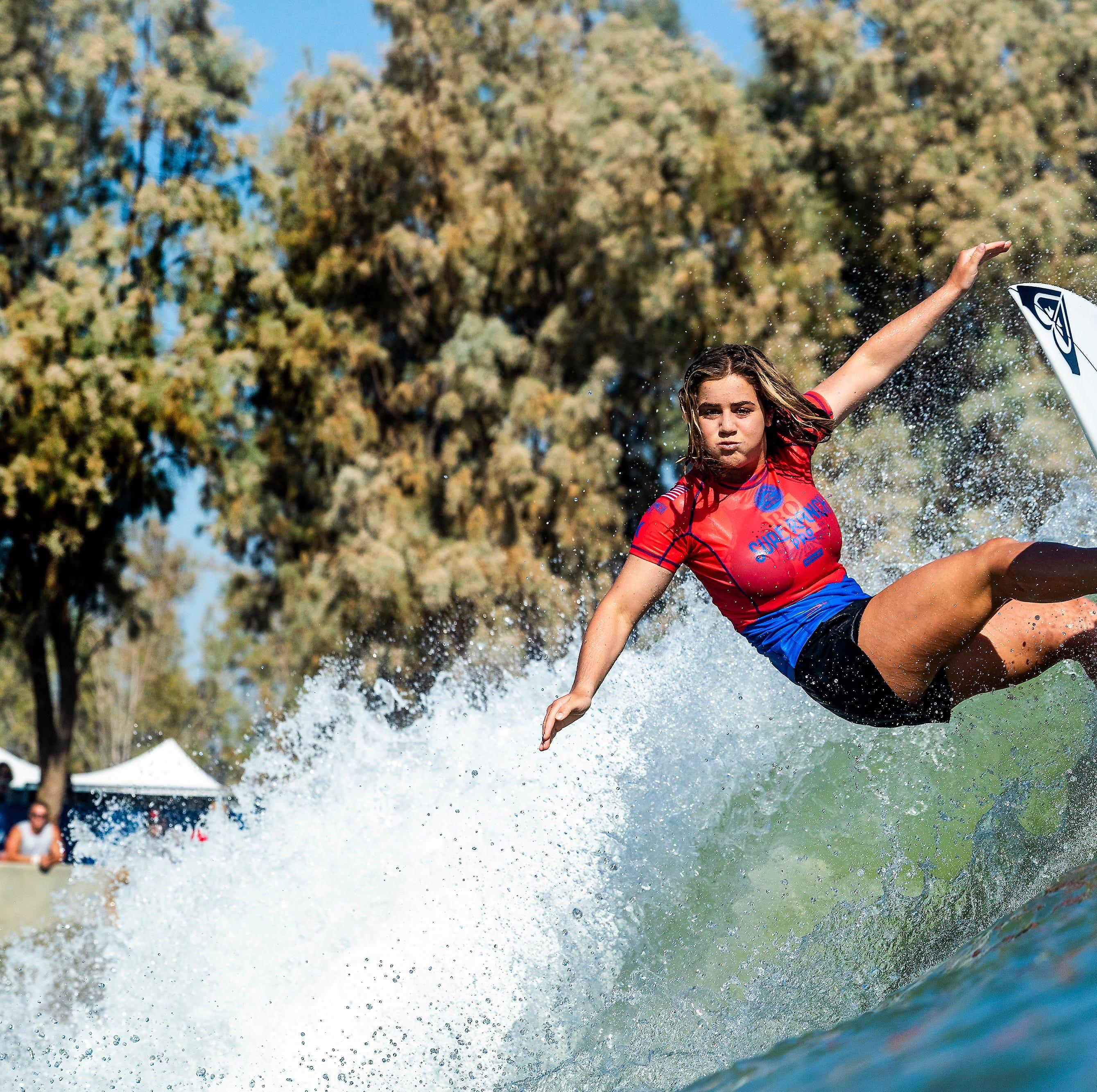 Ron Jon statue, equal pay, fans stoke surfing superstar Caroline Marks