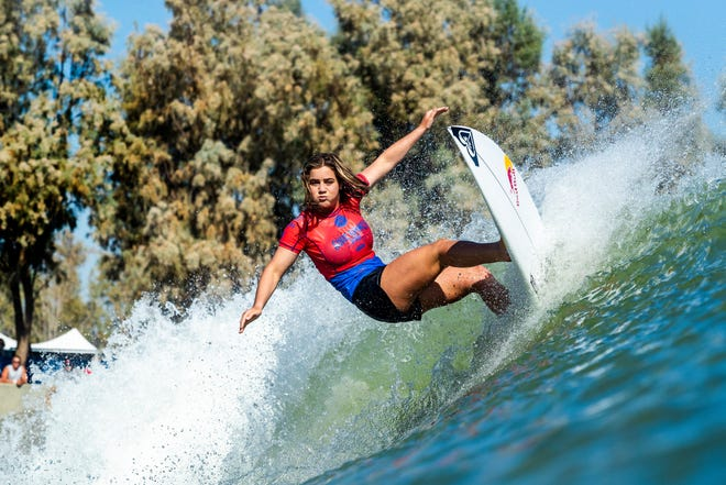 Caroline Marks placed equal third in the recent Surf Ranch Pro in Lemoore, Calif., the first event on artificial waves for the world circuit. She is now ranked fifth in the world.
