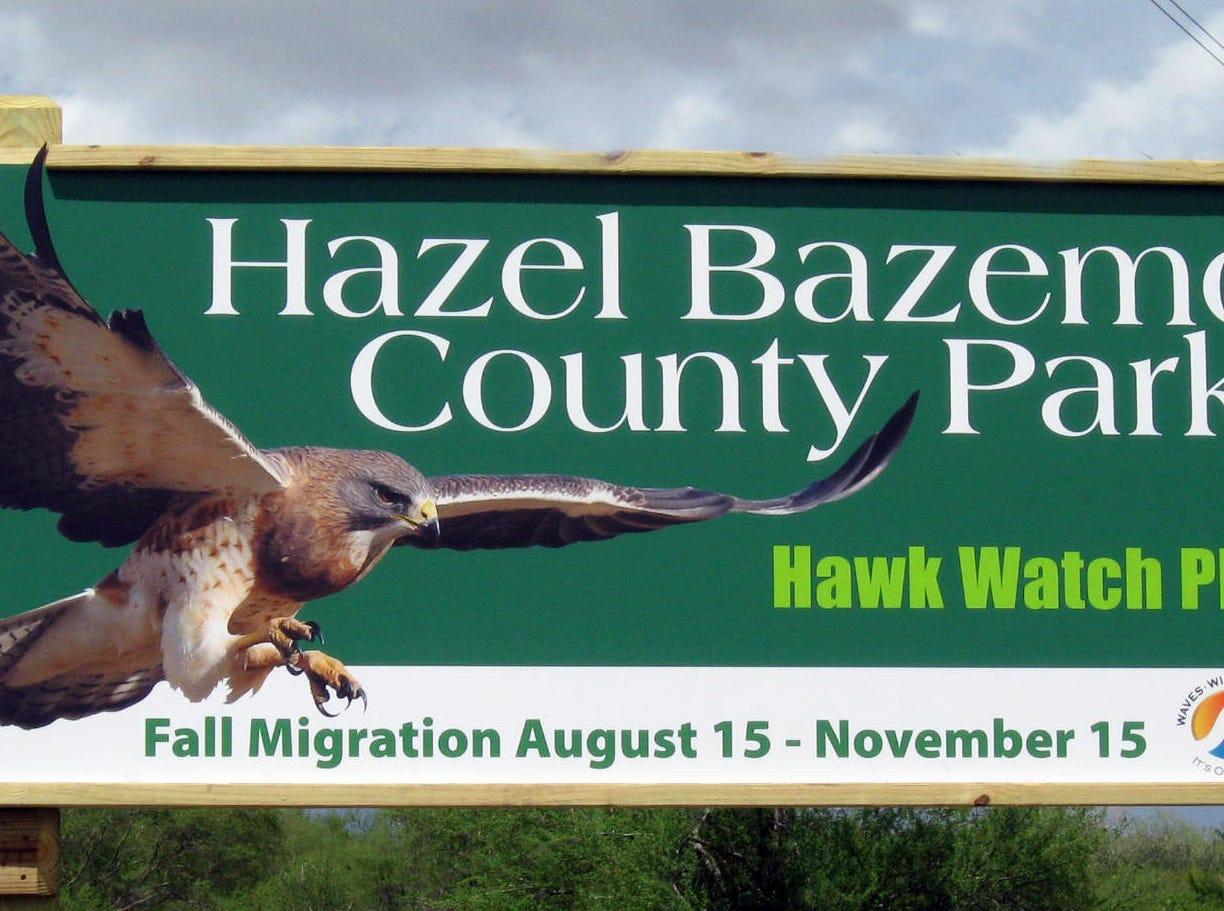 This sign greets visitors to Hazel Bazemore County Park on the Nueces River in Calallen.