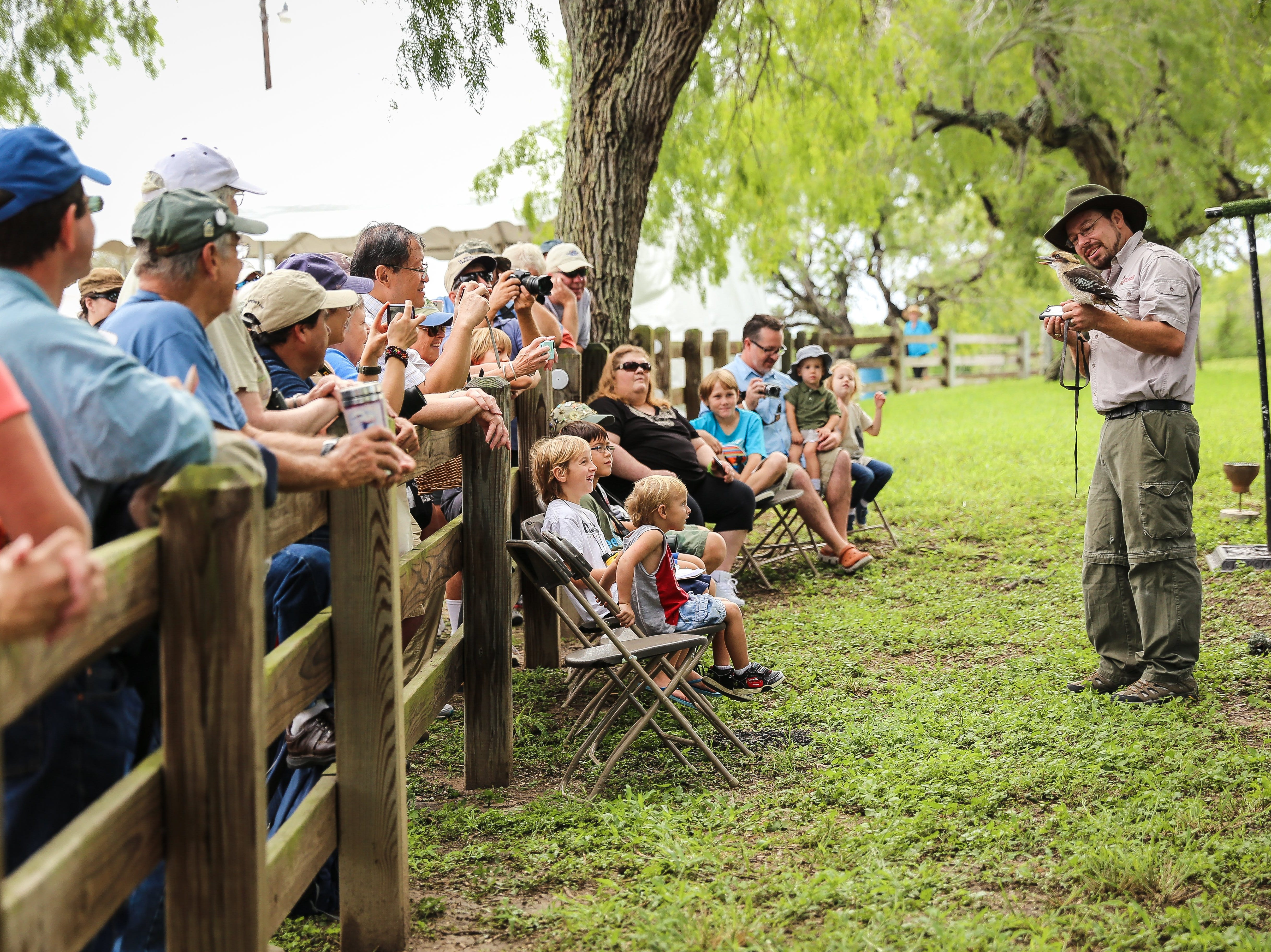 Kevin Gaines is an annual favorite with his Wildlife Revealed program at the Celebration of Flight event at Hazel Bazemore Park Sept. 28-30