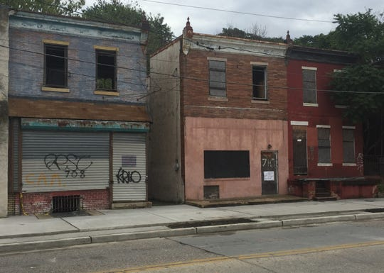 Abandoned houses dominate the 700 block of Haddon Avenue, a proposed redevelopment area in Camden's Gateway area.
