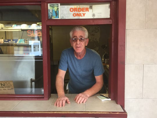 Vito Brasile, who runs Bert's pizza shop at Haddon Avenue and Line Street, hopes a proposed redevelopment project does not displace his business.