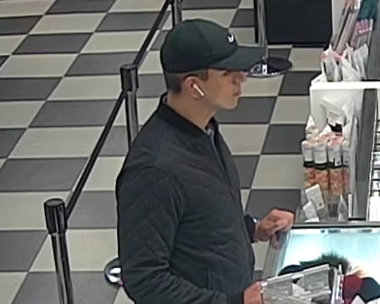 Evesham police say this man is wanted for a pickpocket theft in town on Sept. 13. A victim had her wallet stolen and her credit cards were used to make purchases at two stores in Philadelphia.