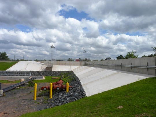 A portion of the $37-million flood protection project recently unveiled at New Jersey American Water's Raritan-Millstone Water Treatment plant in Bridgewater.
