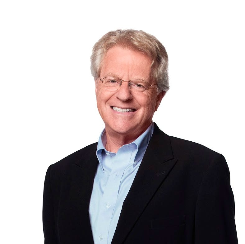 Take a selfie with Jerry Springer