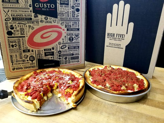 Gusto Pizza has launched five kinds of Chicago-style deep-dish pizzas in its Clocktower Square location only.