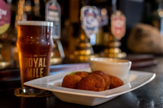 Fuller's London Pride and Scotch Eggs at The Royal Mile.