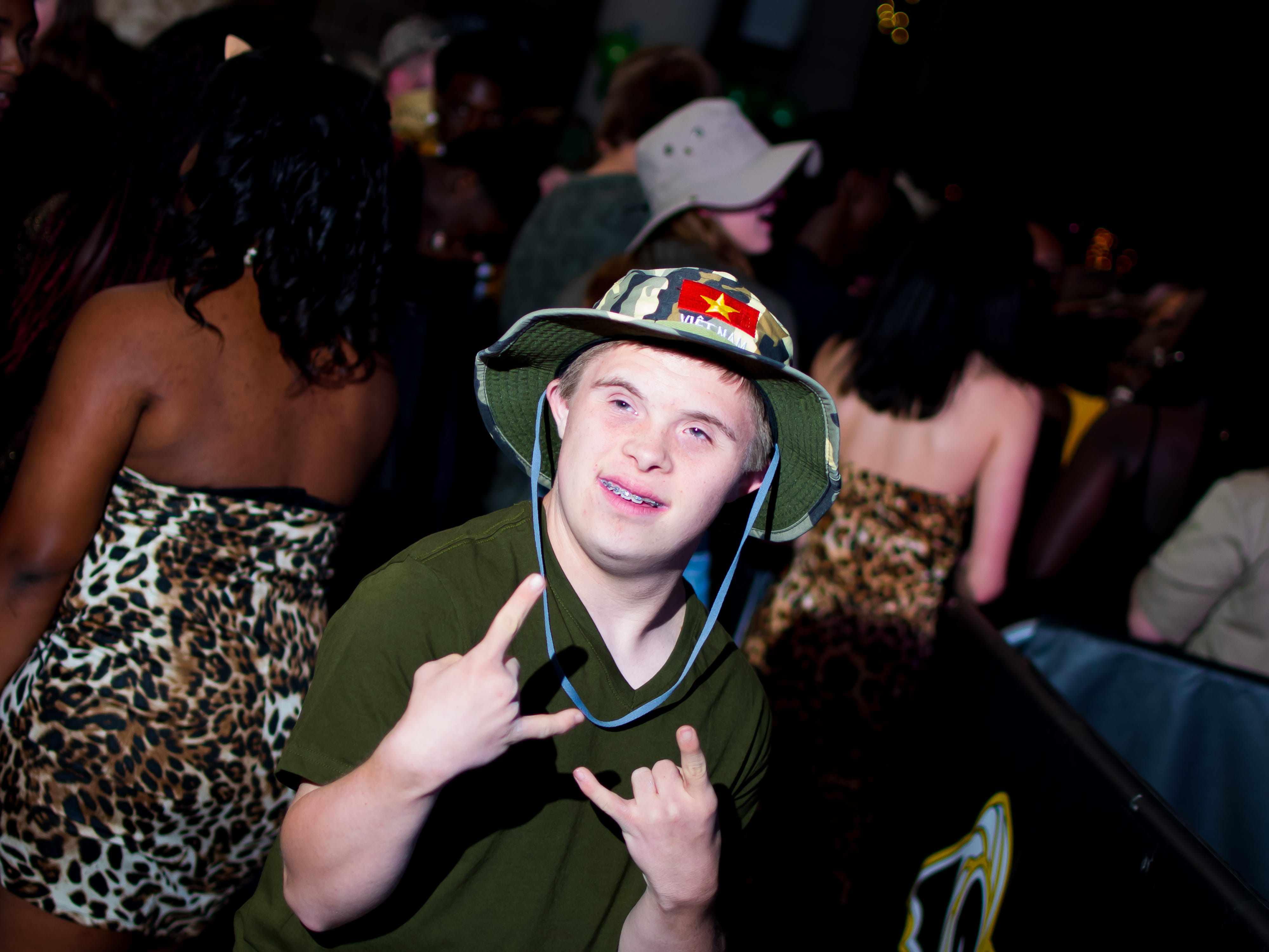 Tyler Kaut, 19, of Southeast Polk dresses up for Southeast Polk High's homecoming dance on Saturday, September 22, 2018 in Southeast Polk High.