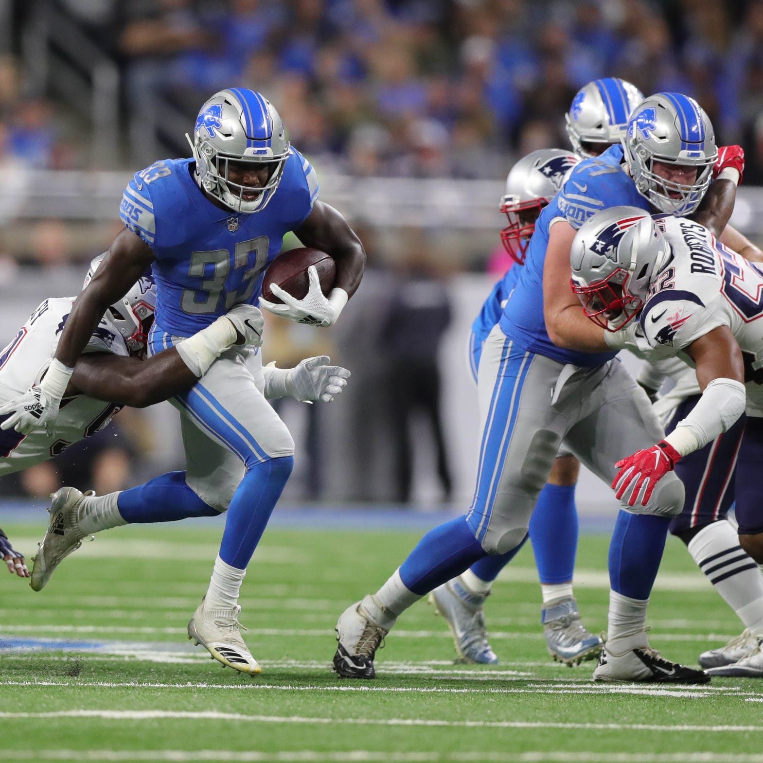 Detroit Lions stock watch: Rookies Kerryon Johnson, Frank Ragnow rising