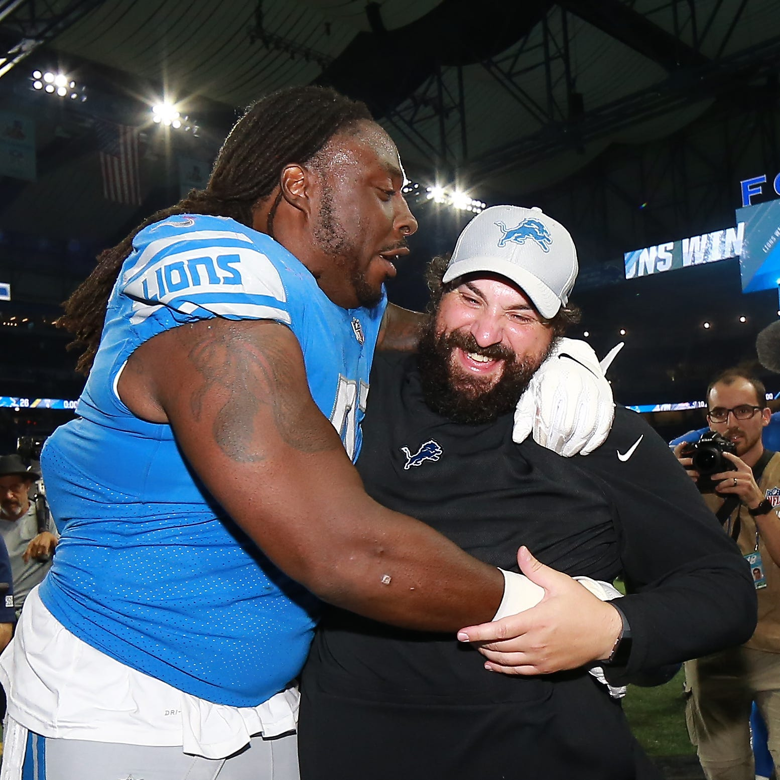 Detroit Lions' Ricky Jean Francois hopes Matt Patricia slept after win