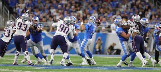 Matthew Stafford, Lions offensive line
