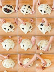 How to assemble a lattice crust