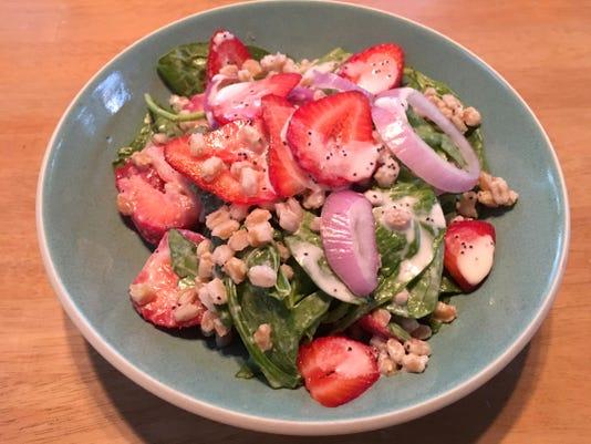Spinach Strawberry Wheatber