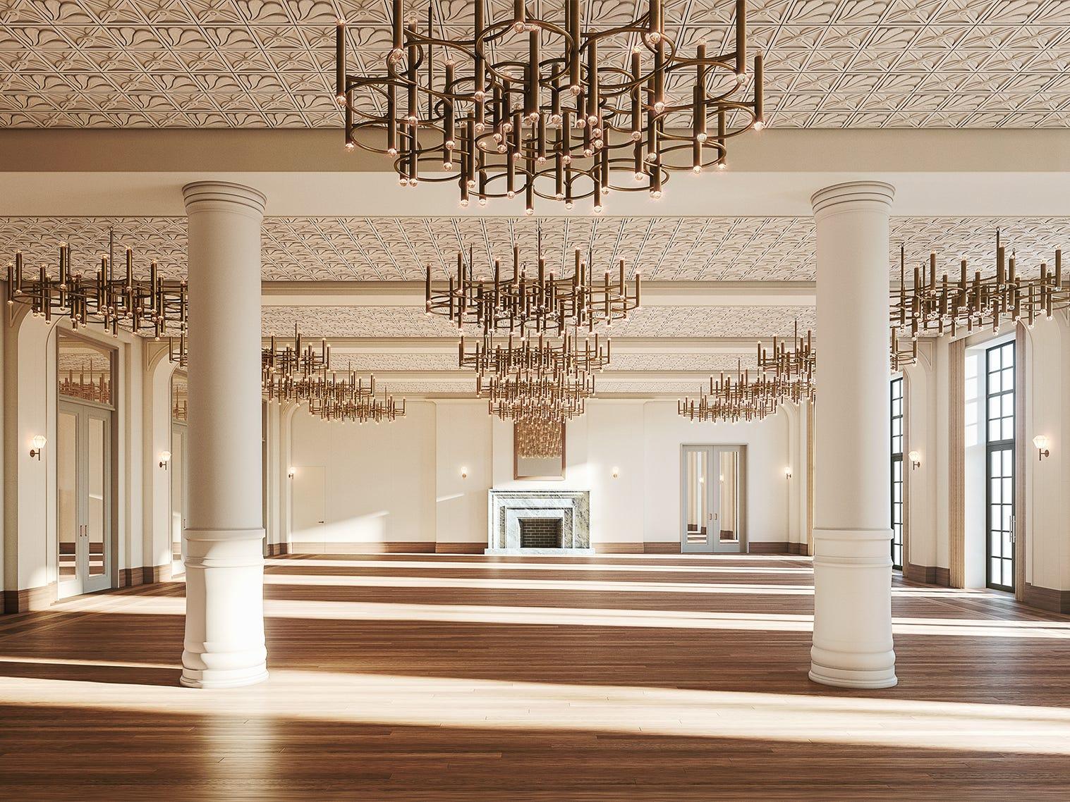Shinola Hotel grand hall.