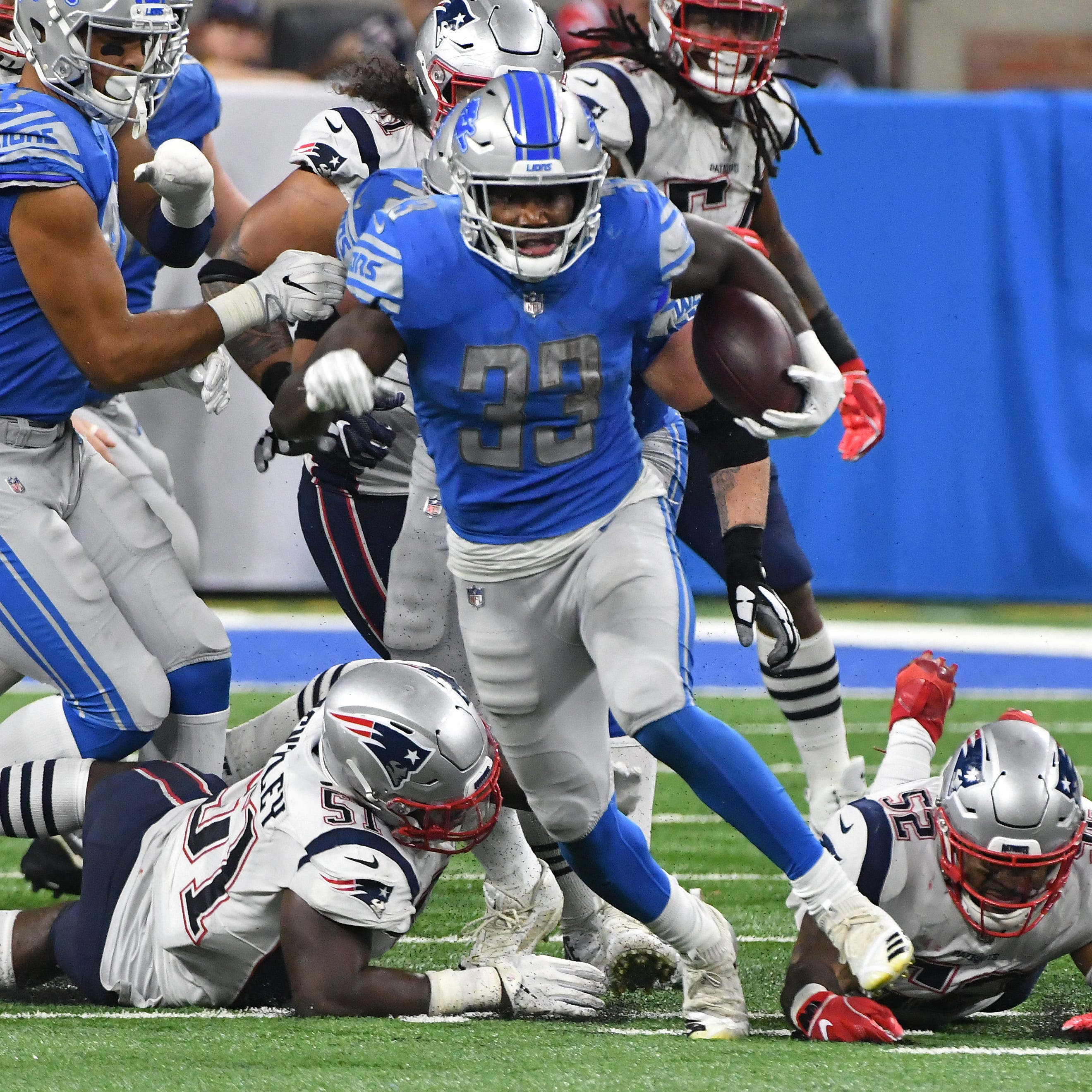It took a village to snap Lions' 100-yard rushing drought