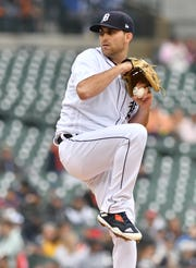 Tigers starting pitcher Matthew Boyd is averaging 8.4 strikeouts per nine innings pitched.