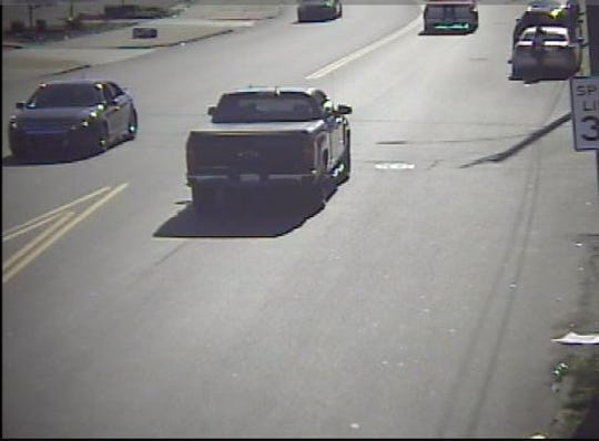 The suspect's alleged getaway vehicle is a 2016 Chevy Silverado