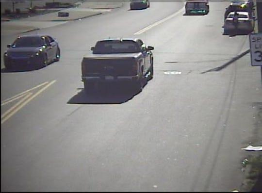 The suspect's alleged getaway vehicle is a 2016 Chevy Silverado