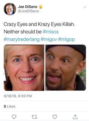 Tweet from Democratic political consultant Joe DiSano