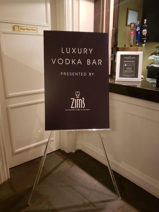 The vodka luxury bar sponsored by Zim's Vodka