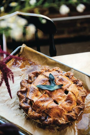"""Aged Gouda pie crust is one of the recipes in """"Sister Pie"""" by Lisa Ludwinski. She was nominated as Outstanding Baker at this year's James Beard Foundation Awards, to be given out in Chicago on May 6."""