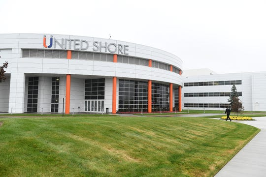 The United Shore building of United Wholesale Mortgage in Pontiac.