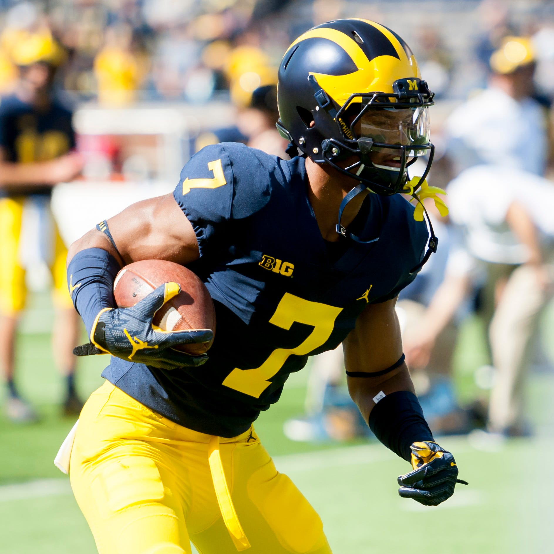 Michigan's Harbaugh says Tarik Black 'progressing' in rehab for broken foot